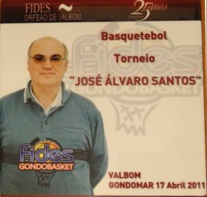 Azulejo evocativo do I Torneio José Alvaro Santos