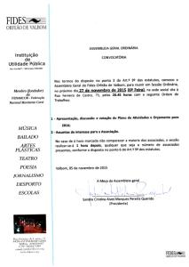 Convocatória AG 27112015